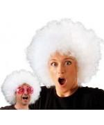 perruque afro disco blanche, années 80