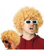 perruque afro blonde - disco, années 80
