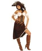 Déguisement femme pirate luxe