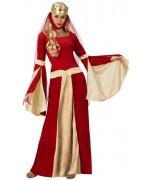 deguisement reine medievale rouge pour femme