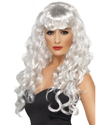 Perruque blanche femme