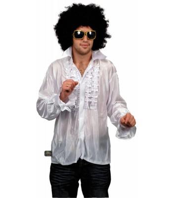 Chemise disco blanche pour homme