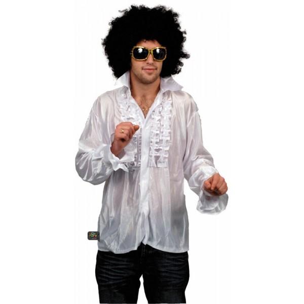 chemise disco blanche pour homme d guisement disco la. Black Bedroom Furniture Sets. Home Design Ideas