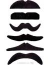 moustaches noires auto adhésives adulte