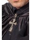 Collier croix avec tête de mort