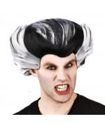 perruque noire et blanche pour homme - accessoire déguisements