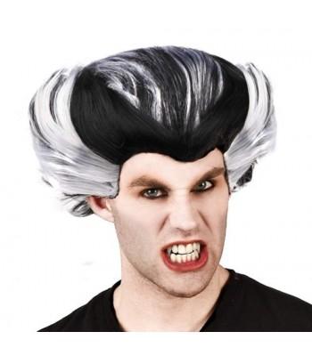 Perruque vampire blanche et noire homme