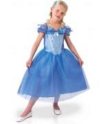 deguisement Cendrillon fille inspiré du film avec robe de princesse Disney et barrette à placer dans les cheveux