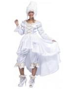 Déguisement de marquise baroque blanche pour femme - Carnaval de Venise