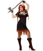 Déguisement viking femme, guerrière du moyen-âge - WA302S