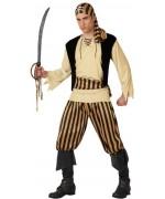 deguisement de pirate noir et or pour homme - déguisements pirates