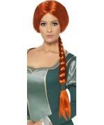 perruque princesse Fiona - déguisement dessin animé Shrek