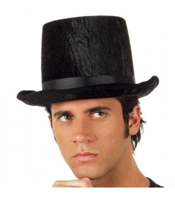 Chapeau haut de forme noir velours