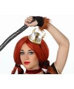 chapeau viking femme sur diadème - déguisement guerrière viking
