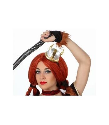 mini chapeau de viking femme
