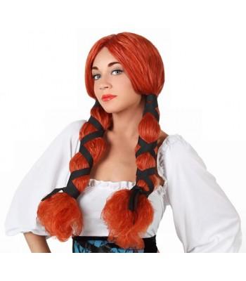 Perruque femme viking avec tresses