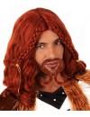 Perruque viking homme avec moustache