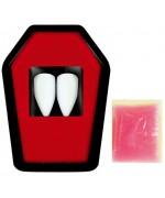 dents de vampire avec pate adhésive idéal pour réaliser son maquillage de vampire pour Halloween