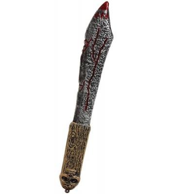 Couteau ensanglanté tête de mort