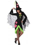 deguisement sorcière fashion, couleur flashy et fluo