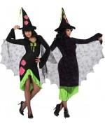 deguisement sorcière morderne, tendance flashy et fluo -  costume femme - magie et sorcellerie