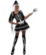 deguisement halloween - femme squelette sexy