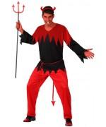 deguisement de diable pour homme couleur rouge et noir - halloween adulte