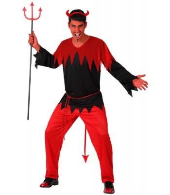 Déguisement diable rouge et noir adulte