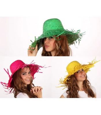 Chapeau feuille de palmier 3 couleurs