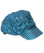casquette disco turquoise femme - accessoire disco