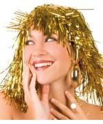 perruque métallique or adulte - accessoire deguisement - DA017AO