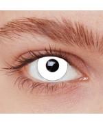 Lentilles blanches zombie adulte, paire de lentilles fantaisie iris blanc - maquillage halloween