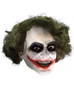 Masque Joker luxe avec cheveux - masque comics