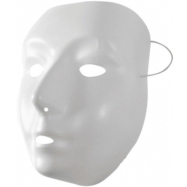 Masque blanc peindre la magie du deguisement vente masques et deguisements for Peindre du plastique