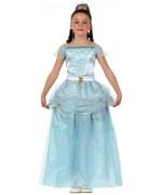 deguisement de princesse pour enfant, couleur bleu - costume conte de fées