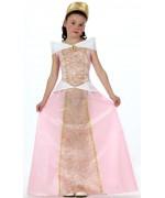 deguisement medieval pour enfant, la princesse médiévale rose