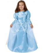 deguisement de princesse bleue pour enfant décoré de papillon - conte de fées