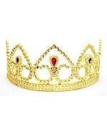 couronne de princesse couleur or en plastique - accessoire deguisements adultes