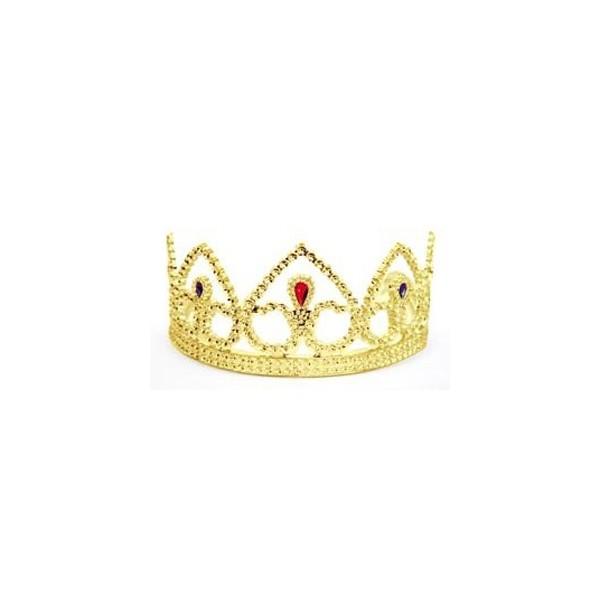 couronne de princesse couleur or en plastique accessoire deguisements adultes - Couronne Princesse Adulte
