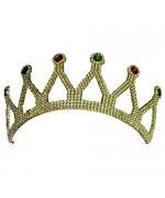 couronne dorée, deguisement de princesse adulte