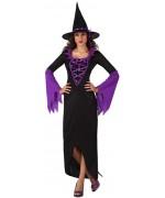 deguisement sorciere noire et violette adulte - sorcieres halloween femme