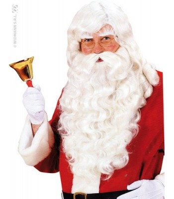 Perruque + barbe Père Noël luxe naturel