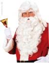 Perruque et barbe Père Noël luxe naturel