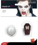 Dents de vampire avec pâte adhésive - maquillage halloween