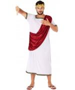 déguisement de romain rouge et blanc pour homme