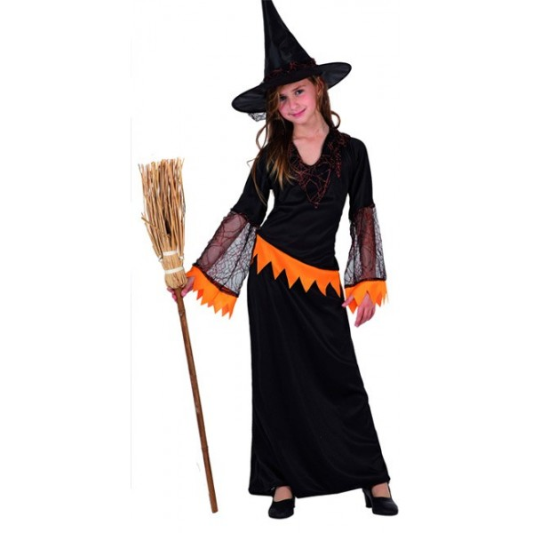 D guisement sorci re orange fille la magie du deguisement vente deguisements halloween - Deguisement halloween enfant fille ...