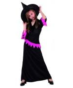 deguisement de sorcière noire et rose pour filles - costumes halloween
