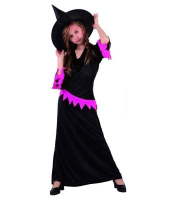 deguisement sorciere fille rose et noir