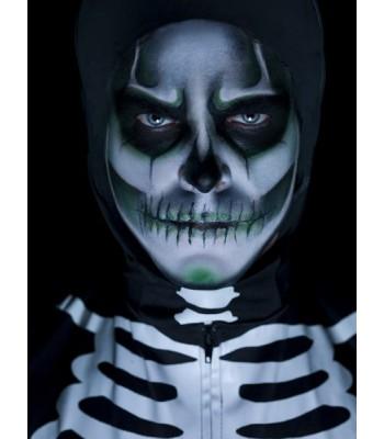 Maquillage squelette phosphorescent