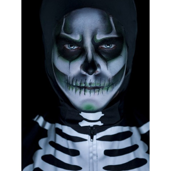Maquillage squelette phosphorescent la magie du deguisement achat maquillage halloween - Maquillage halloween latex ...